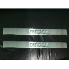 Peugeot Bipper 2009- Накладки на порожки 2шт