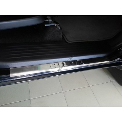 Toyota Hilux 2005-2015 Накладки на порожки 4шт - 6450210
