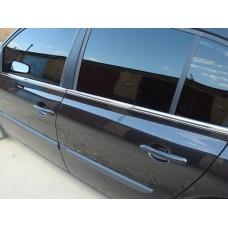 Renault Megane II Sedan 2002-2008 Молдинги стекол нижние 4шт