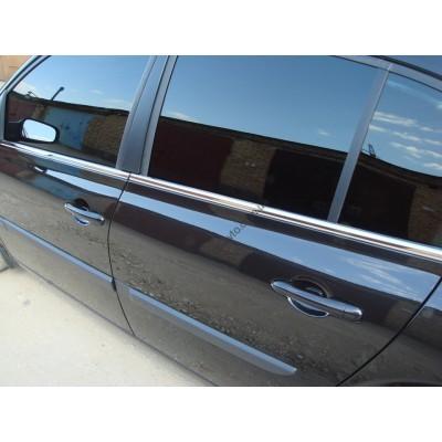 Renault Megane II Sedan 2002-2008 Молдинги стекол нижние 4шт - 6450388