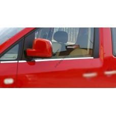 Volkswagen Caddy (2010-2015) Молдинги стекол 2шт