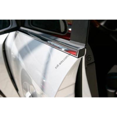 Volkswagen Tiquan 2008-2015 Молдинги стекол нижние 4шт - 6450413