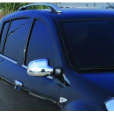 Dacia/Renault Duster (2010-)/Logan (07-12)/Sandero (08-13) Накладки на зеркала V2 (пластик) 2шт
