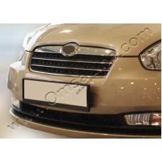 Hyundai Accent (2006-2011) Накладки на решетку радиатора 2шт