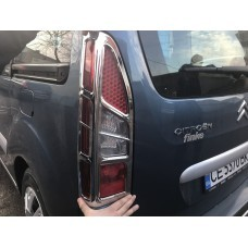 Peugeot Partner 2008-2012 Накладки на стопы угловые (пластик) 2шт