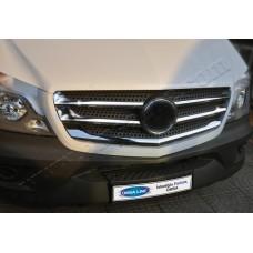 Mercedes Sprinter FL (2013-) Накладки на решетку радиатора 5шт