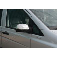 Mercedes Vito W639 FL (2010-) Накладки на зеркала 2шт