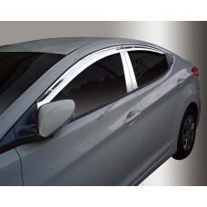 Hyundai Elantra (2011-) Накладки на стойки дверей 4шт