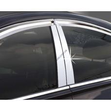 Hyundai Santa Fe (2012-) Накладки на стойки дверей 4шт