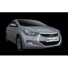 Hyundai Elantra (2011-2012) Накладка решетки радиатора 4шт