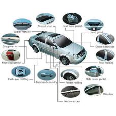 Kia Sorento 2009-2013 Дефлектор капота хром 3шт