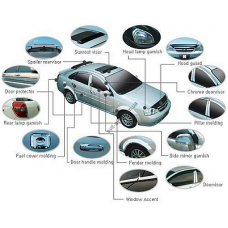 Hyundai Sonata 2009- Дефлектор капота хром