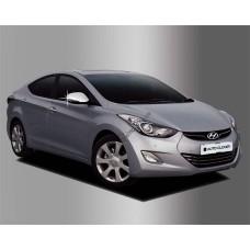 Hyundai Accent (2010-) Накладки на зеркала с повторителем 2шт