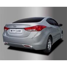 Hyundai Elantra (2011-2012) Окантовка противотуманок 4шт