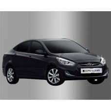 Hyundai Accent (2010-) Окантовка фар 2шт