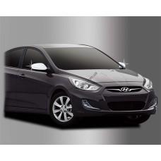 Hyundai Accent (2010-) Накладки на зеркала без повторителей 2шт