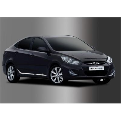 Hyundai Accent (2011-) Нижний молдинг дверный 4шт - AC B755