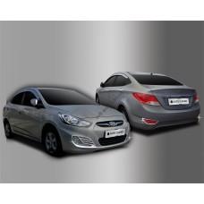 Hyundai Accent Sedan (2010-) Окантовка противотуманок 4шт