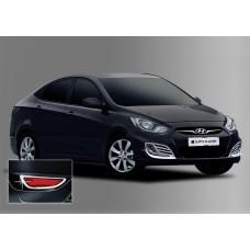 Hyundai Accent HB (2010-) Окантовка противотуманок 4шт