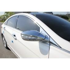 Hyundai Sonata YF (2012-) Накладки на зеркала с повторителем 2шт