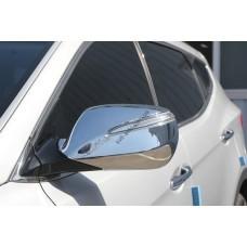 Hyundai Santa Fe (2012-) Накладки на зеркала с повторителем 2шт