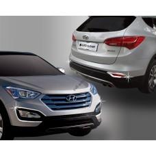 Hyundai Santa Fe (2012-) Окантовка противотуманок 4шт