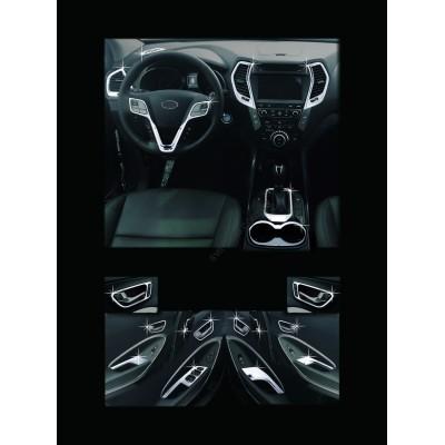 Hyundai Santa Fe (2012-2015) Накладки в салон 21шт - AC C673