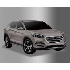 Hyundai Tucson (2015-) Окантовка радиатора 2шт
