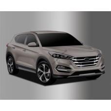 Hyundai Tucson (2015-) Накладки на решетку радиатора 4шт