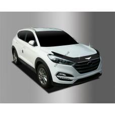 Hyundai Tucson (2015-) Дефлектор капота темный 3шт