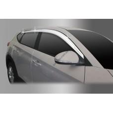 Hyundai Tucson (2015-) Дефлектора окон хром 6шт