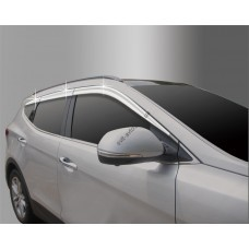 Hyundai Santa Fe (2015-) Дефлектора окон хром 6шт