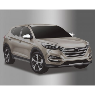 Hyundai Tucson (2015-) Накладки на зеркала с повторителем 4шт - AC D819