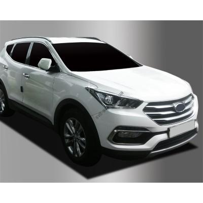 Hyundai Santa Fe (2015-) Окантовка фар 2шт - AC D829