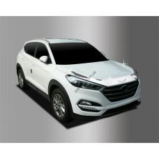 Hyundai Tucson (2015-) Дефлектор капота хром 3шт