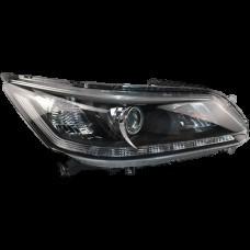 Фара передняя левая Honda Accord 9 седан 13-15 (белая вставка + LED) (Depo)
