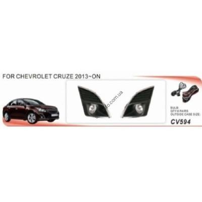 Противотуманные фары Chevrolet Cruze 2013-, к-т 2 шт., AVTM, CV-594-W 6 - CV-594-W 6