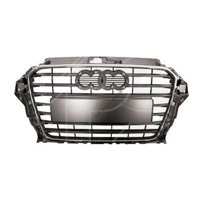 Решетка радиатора Audi A3 12-16 (FPS) - FP 1224 990