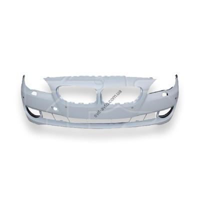 Передний бампер BMW 5 F10 (10-13) с отв. п/трон. с отв. омывателя (грунтованый) (FPS) 51117285961 - FP 1420 900