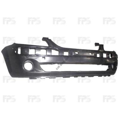 Передний бампер Hyundai Getz 06-11 черный, c отв. под ПТФ (FPS) 865111C310 - FP3128901P
