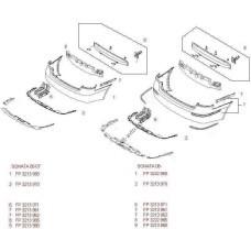 Защита бампера задняя Hyundai Sonata 05-07, один выхлоп (FPS) 866953K000