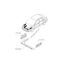 Защита двигателя пластиковая Kia Rio 05-11 FP 4013 222 (FPS) 291201G000