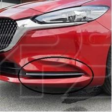 Молдинг бампера пер. лев. черн. глянец Mazda 6 18- (EUR/USA)