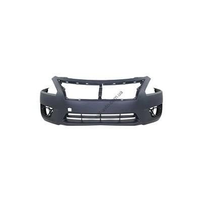 Бампер передний Nissan Altima 12-16(без отв. под п/троник) (FPS) - FP5048900