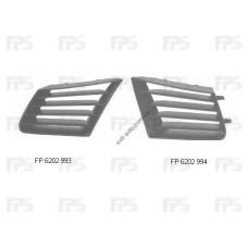 Решетка радиатора Seat Ibiza 02-08 левая, возле фары (FPS) 6L085367701C