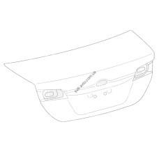 Крышка багажника без отв. под камеру Toyota Camry V50 11-14 USA(FPS) под спойлер 6440106630