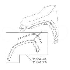 Рант крыла пер. лев. черн тектура Toyota RAV4 19- FPS