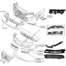 Крепеж переднего бампера VW Passat B6 05-10 левый, горизонтальный, верхний (FPS) FP 7407 933 3C08071