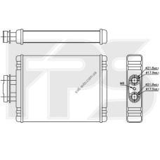 Радиатор печки Volkswagen Polo / Skoda Fabia / Seat Ibiza (FPS) FP 74 N175