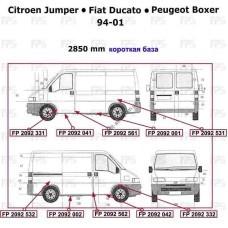 Порог левый Peugeot Boxer, Citroen Jumper, Fiat Ducato 94-06, боковой (Klokkerholm)